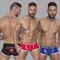 New 2016 Pink Hero Boxer Shorts Men Underwear Male panties Sexy Fashion Cartoon Print Cotton Breathable elastic Comfortable