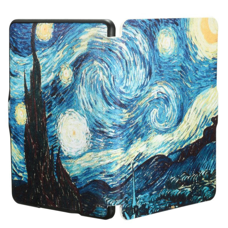 Van Gogh Art Oil Painting For Kindle Paperwhite1 2 3 Case Cover New Table Suite For Amazon Kindle Case Protector Cover Case cartoon painted flower owl for kindle paperwhite 1 2 3 case flip bracket stand pu cover for amazon kindle paperwhite 1 2 3 case