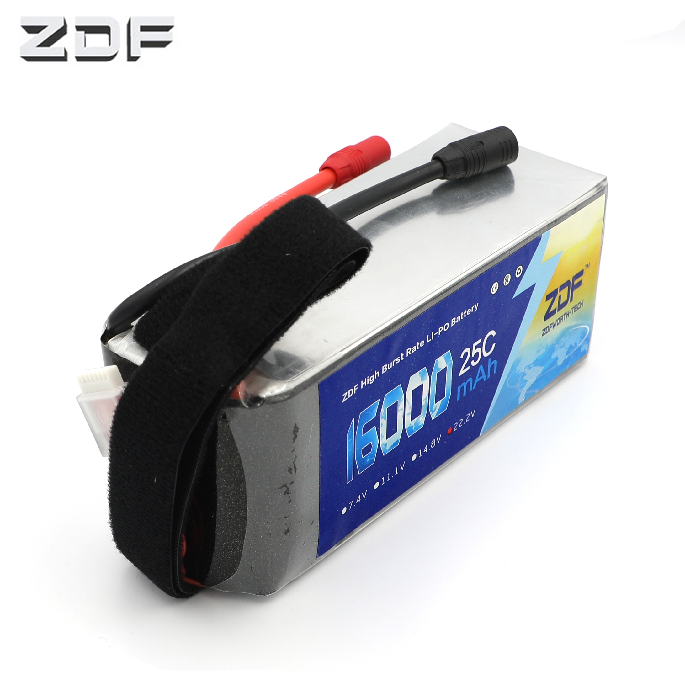 ZDF Quality assurance LiPo Battery 6S 22.2V 16000mAh 25C max 50C for plant protection machine RC Drone