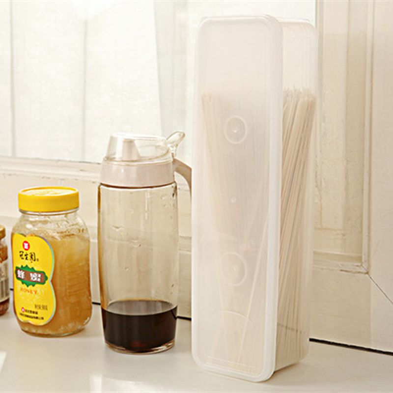 Plastic Spaghetti Box Rectanglular White Plastic Italy