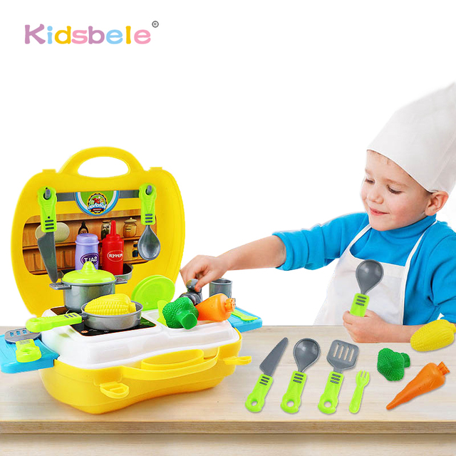 kids kitchen toys undermount stainless steel sink set mini pretend play cooking kit plastic food pan simalation cooker baby classic game best gift for
