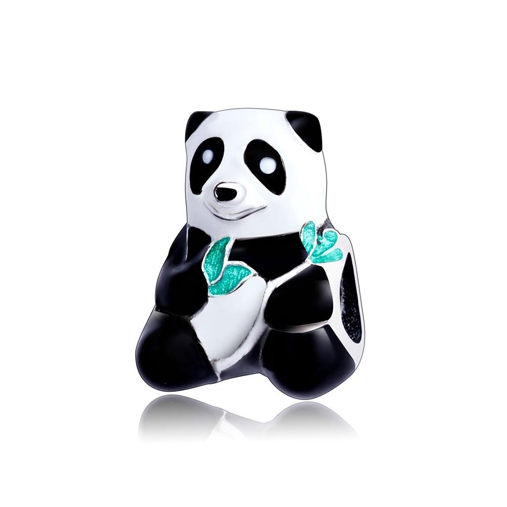 Fit Original Pandora Cham Bracelet 2017 Autumn 100% 925 Sterling Silver Panda Animal Cha ...