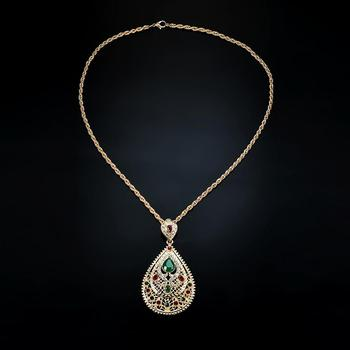 Women Middle East Arab Moroccan-Style Rhinestone Charm Pendant Necklace Gift Hot 1