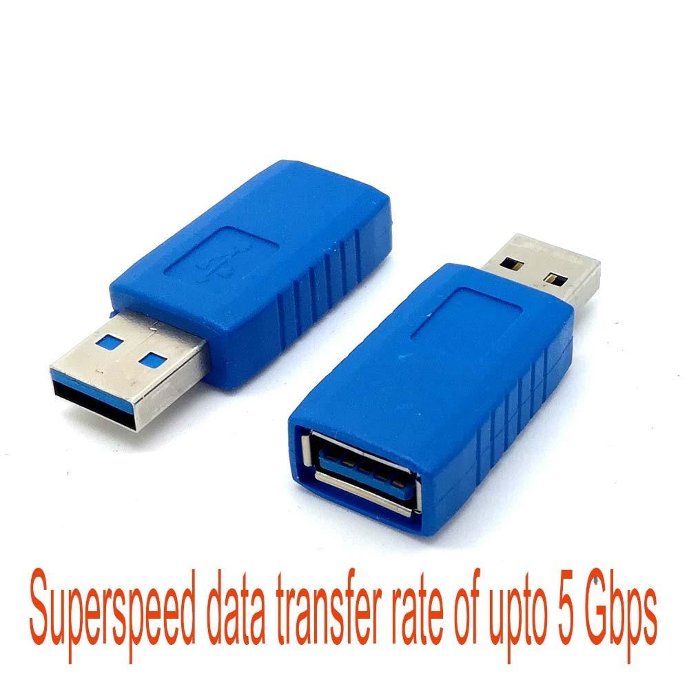Usb3.0 Usb 3.0 Männlichen Zu Weiblichen Koppler Verlängerung Adapter Stecker 5 Gbps Kabel Konverter Superspeed Neue Den Speichel Auffrischen Und Bereichern Unterhaltungselektronik