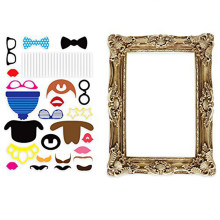 24 Pieces Photo Booth Props Vintage Wedding Antique Picture Frame Decoration Birthday Party Funny Photobooth Supplies(China)