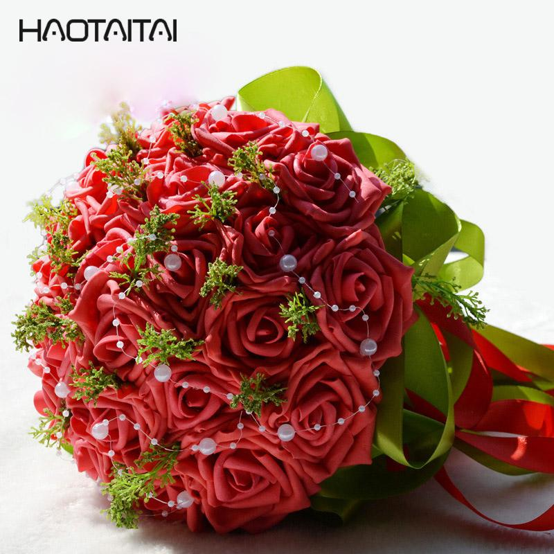 Bridal Bouquets Romantic Flowers Wedding Bouquet Handmade Artificial ...