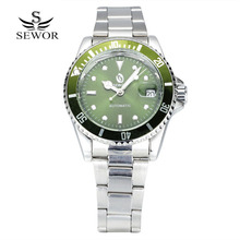 SEWOR brand Automatic mechanical men's watches Leisure fashion sports Wrist watch waterproof stainless steel calendar