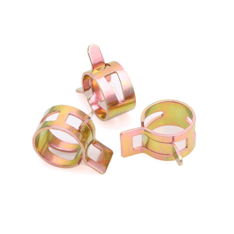 10Pcs 10mm//0.39 inch Spring Clip Fuel Oil Water Hose Pipe Tube Clamp Fastener x