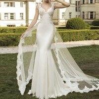 Новый Дизайн Свадебные платья Съемная Поезд великолепные свадебные платья robe mariage довольно Свадебное платье тюль Vestido De Noiva