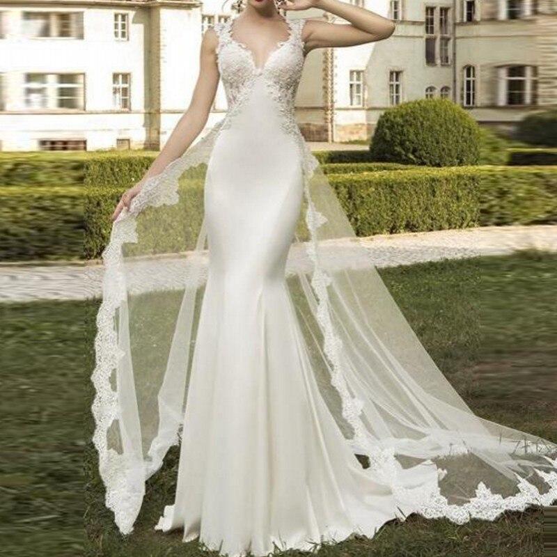 New Design Wedding Gowns Detachable Train Gorgeous Wedding Dresses robe mariage Pretty Bridal Dress Tulle Vestido De Noiva