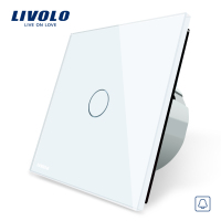 Livolo EU Standard Door Bell Switch Crystal Glass Switch Panel 220 250V Touch Screen Door Bell