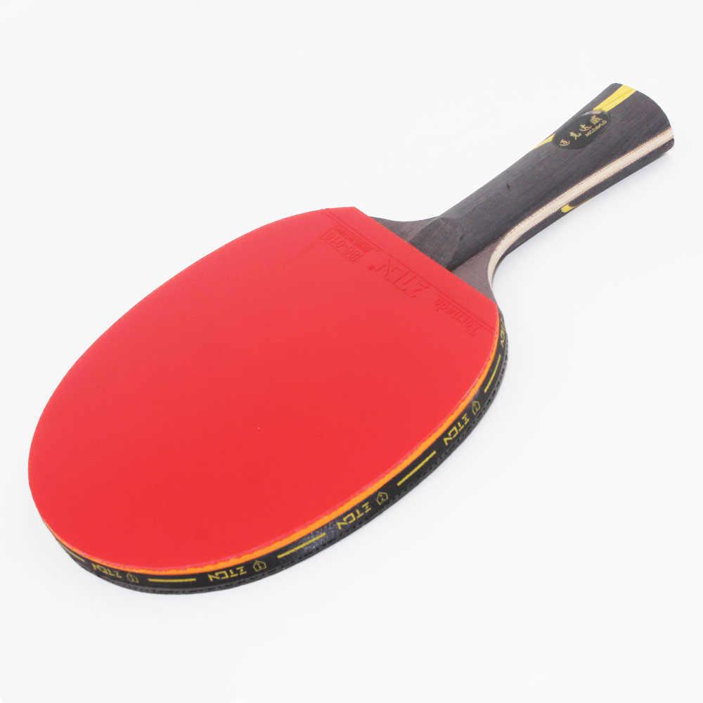 Zton table tennis racket double pimples in rubber ping pong racket fast attack and loops or chop for Table tennis 6 0