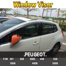 SHITURUI окно козырек вентиляционный Защита от солнца и дождя для PEUGEOT 301 308 308S 408 508 5008 4008 3008 2008 автомобиля из нержавеющей стали