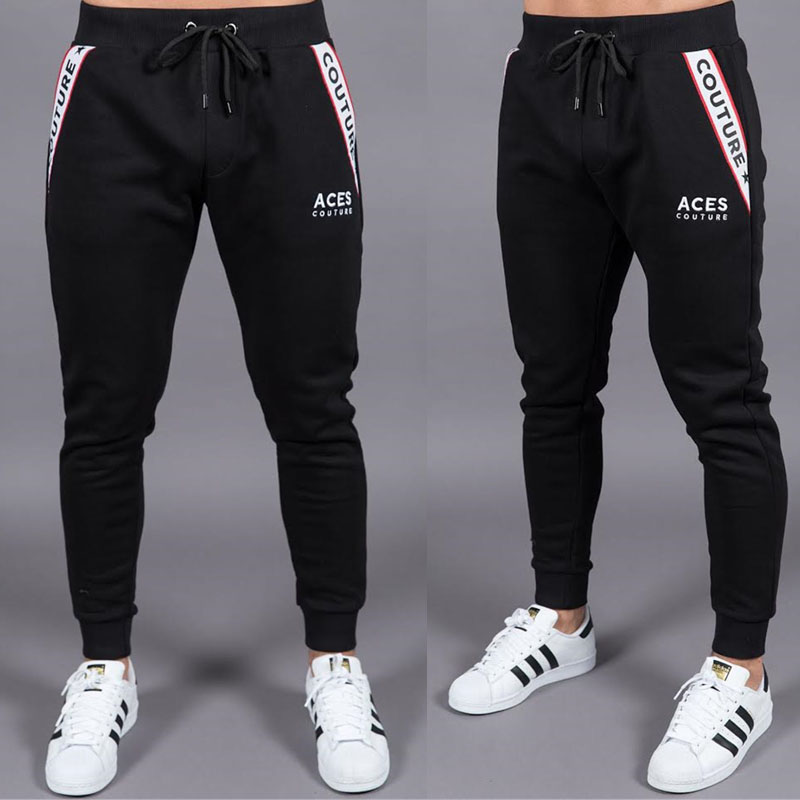 Men's clothing 2018 high quality jogger Sweatpants men's fashion casual pants Runners sportswear gyms cotton pants trousers