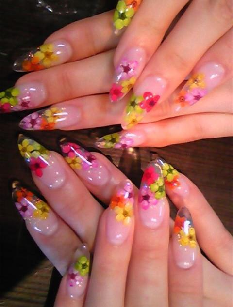 1set Lot 12 Colors Nail Art Dry Flower 3d Nail Art Decoration Nail