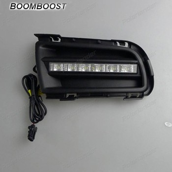 BOOMBOOST 2pcs LED Running Light For Mazda 6 2004 -2010  Fog Lamp Car Accessory Waterproof ABS 12V