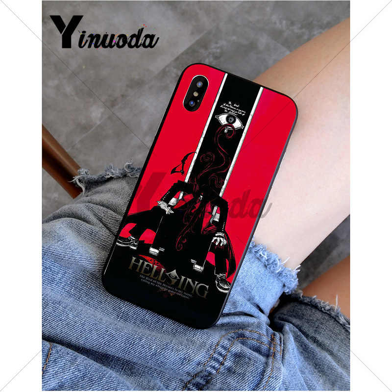 Yinuoda أنيمي Hellsing Alucard مروحة لينة غطاء إطار هاتف محمول لابل iPhone8 7 6 6S زائد X XS ماكس 5 5s SE XR 11 11pro 11promax
