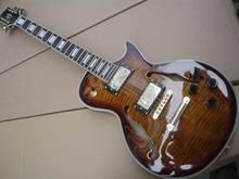 Großhandel lp custom shop kleine jazz e-gitarre halb hohle in beste braun burst Tiger farbe 100522