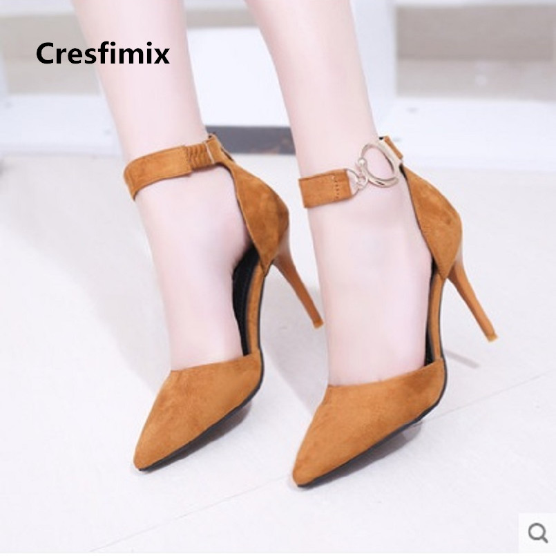 Cresfimix women high quality spring & summer buckle strap high heel shoes lady cute comfortable party black high heel shoes a324 cresfimix sandales pour femmes women sexy party high heel sandals lady cute spring