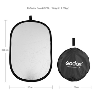 Image 3 - Godox 2in1 150x200cm Gold and Silver Oval Multi Disc Reflector Collapsible Photography Studio Photo Lighting Diffuser Reflector