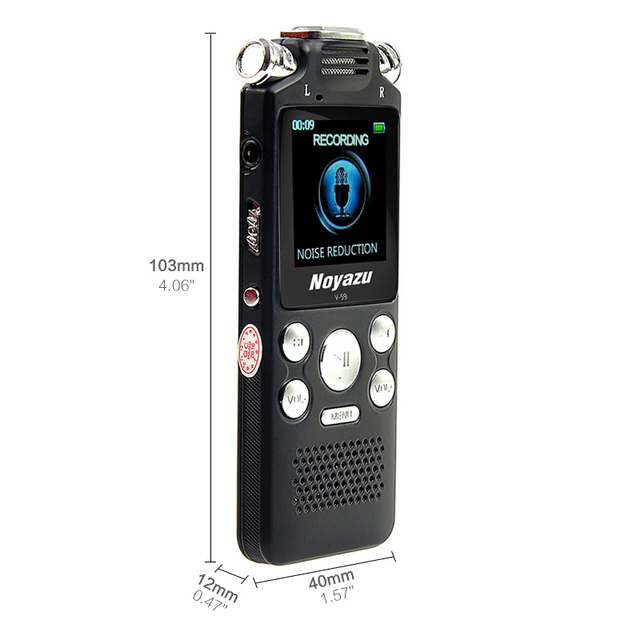 Fast Charging 16G Two-way Microphone Sound Recording Digital Audio Voice Recorder Noise Reduction 4