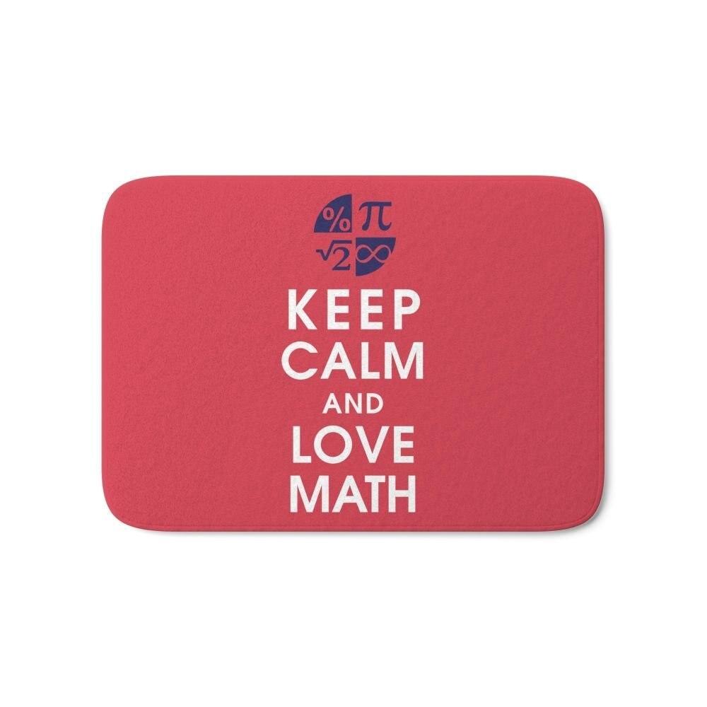 customize doormat keep calm and love math non slip floor entrance