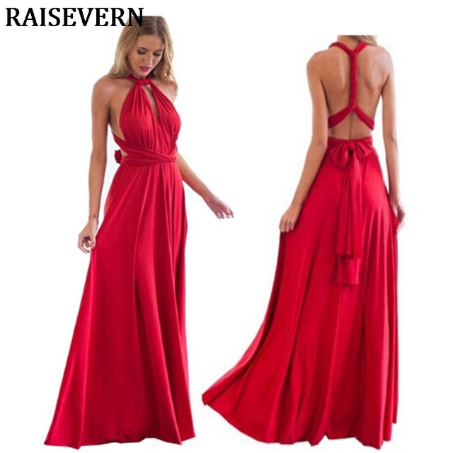 Women Multiway Wrap Convertible Boho Maxi Club Dress Sexy Bandage Long Dress  Party Bridesmaids Infinity Robe Longue Femme Dress 22e8ed89728b
