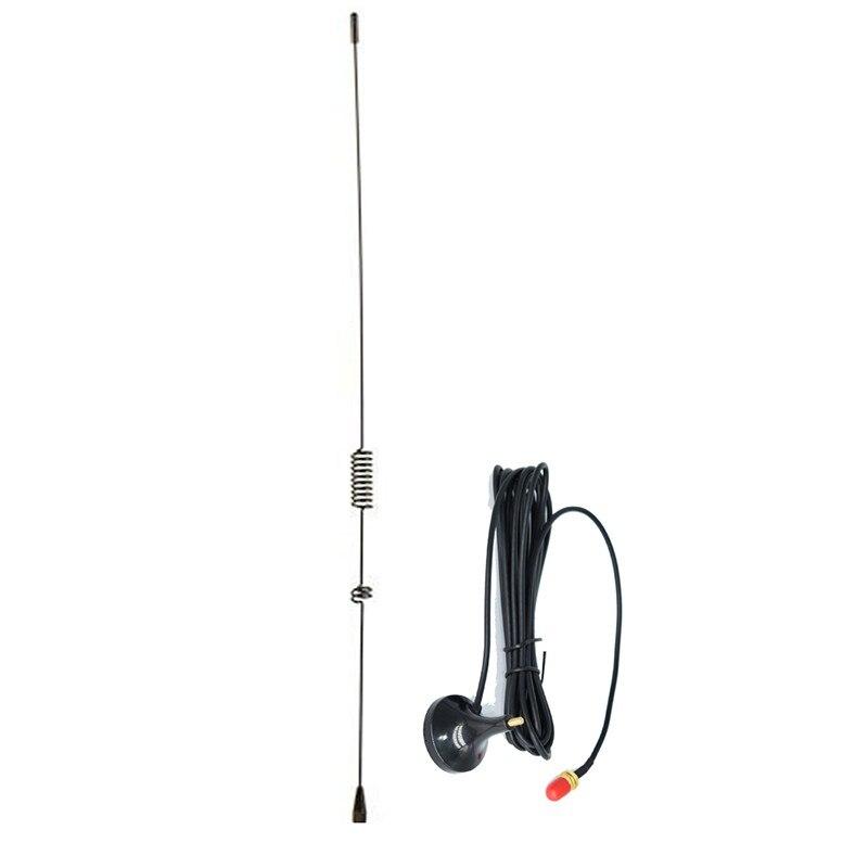 UT-106UV Bi-bande SMA-antenne Femelle 41 cm pour Baofeng talkie-walkie BF-888S UV-5R Plus UV-82 UV-5RE Plus Voiture auto Aimant