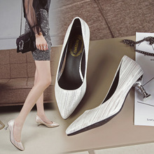 Ladies Shoes OL Office Lady Shoes PU High Heels Shoes Woman Pointed Toe Dress Shoes Basic Pumps Women Boat Zapatos De Mujer цена
