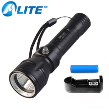 Professional Scuba Diving Light 3-Mode Lighting 1000lm XML T6 LED Underwater Torch Diving Flashlight with 18650 Battery cheap TMWT Hard Light Non-adjustable YT-79 100-200 m Single file Black Zoom In Aluminum Alloy Rechargeable Flashlights LED Bulbs