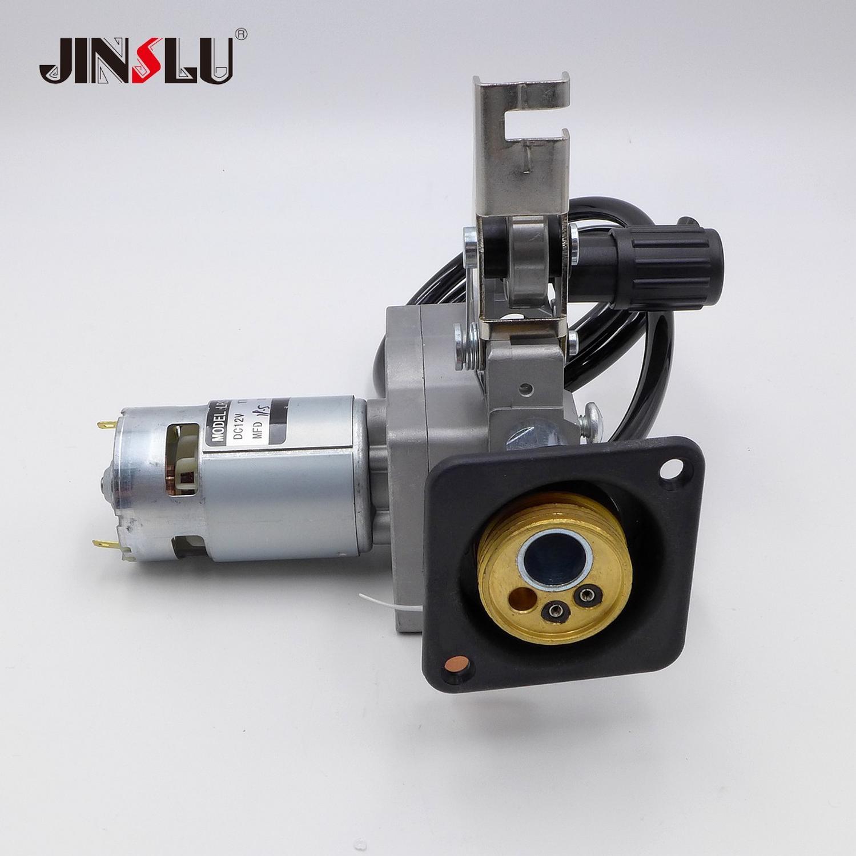 RU Lager 12V 0,8-1,0mm Draht Feeder Montage Draht Feed Schweißen Motor MIG MAG Schweißer Euro Stecker MIG-160 ZY775