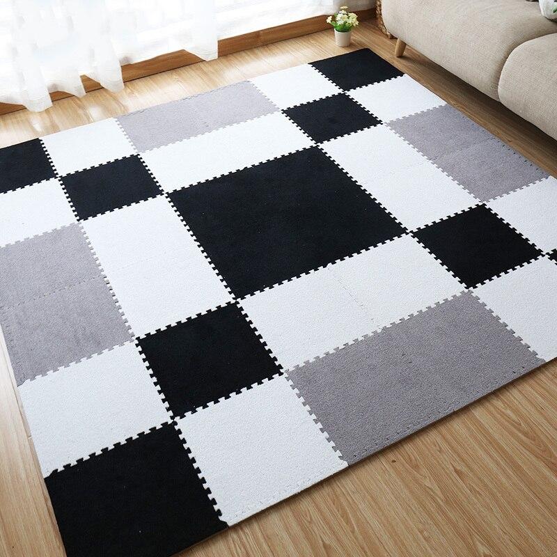 Jcc 짧은 모피 거품 퍼즐 놀이 매트/어린이 러그 카펫 연동 운동 층 어린이 타일 30*30*1 cm