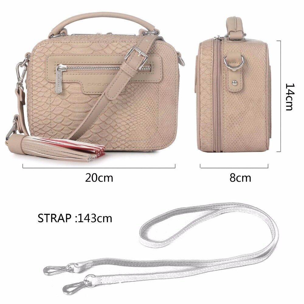 DAVIDJONES women messenger bags pu leather female crossbody bags small lady  serpentine handbag girl shoulder bag drop shipping-in Top-Handle Bags from  ... 0a47eb684c325