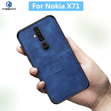 For Nokia X71 100% Original PINWUYO VINTAGE PU Leather Protective Phone Case for Nokia X71 Shockproof Case protective pu pc case for nokia 525 520 black