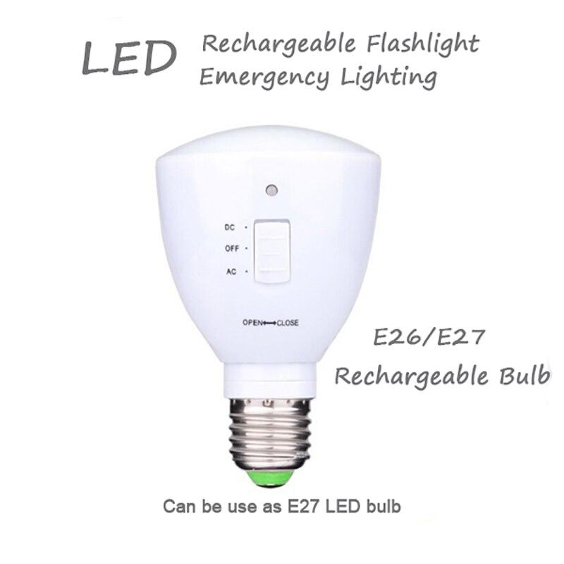 Jiaderui E27 AC85-265V Retractable Flashlight Rechargeable Energy Saving Bulb 6 Hours Used 6W Bulb Multifunction Emergency Light brightinwd led e27 energy saving rechargeable intelligent light bulb lamp emergency lights