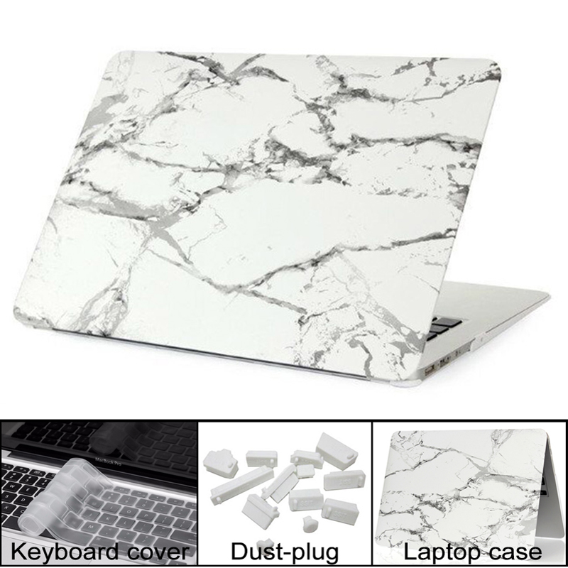 SYSTIMO New Marble Texture Case For Apple Macbook Air Pro Retina 11 12 13 15 Inch Laptop Bag For Mac Book Air 13 With Touch Bar