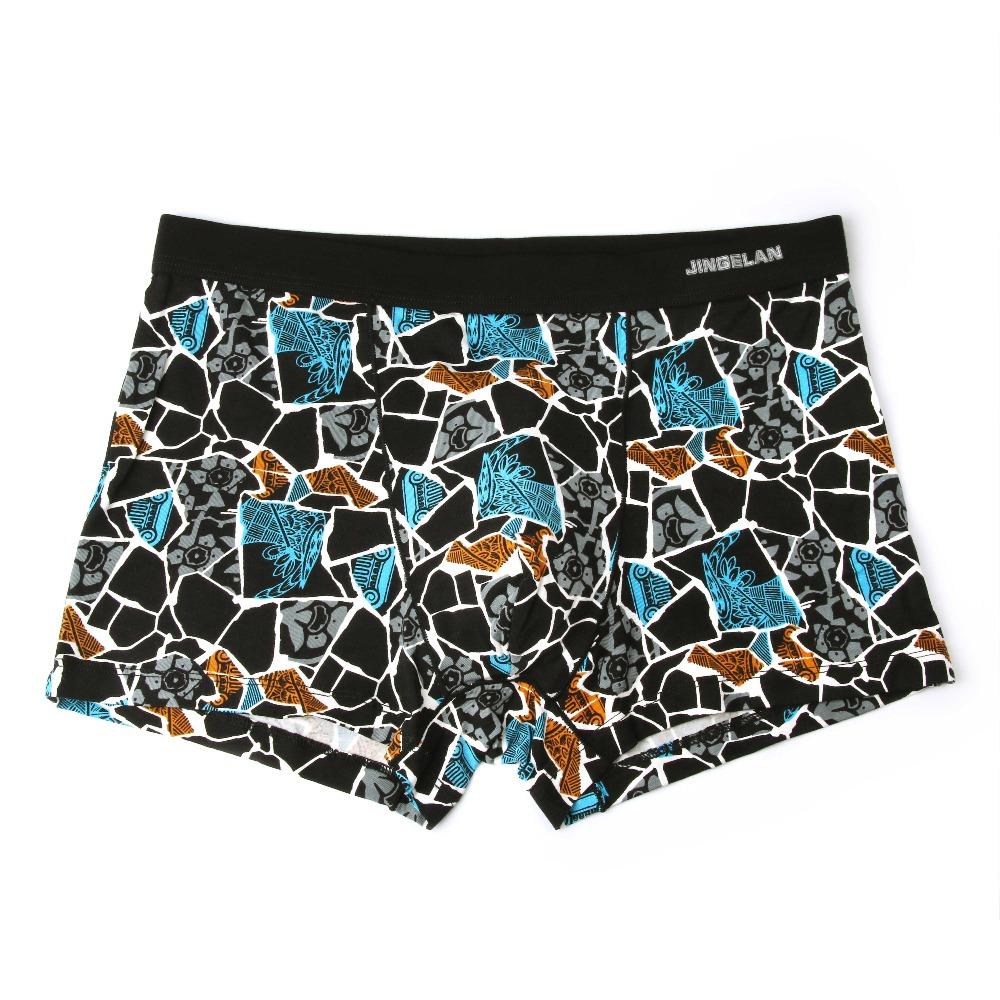 Bamboo Fiber Underwear Men Soft Boxer Shorts Panties Comfortable Breathable Underpants 24
