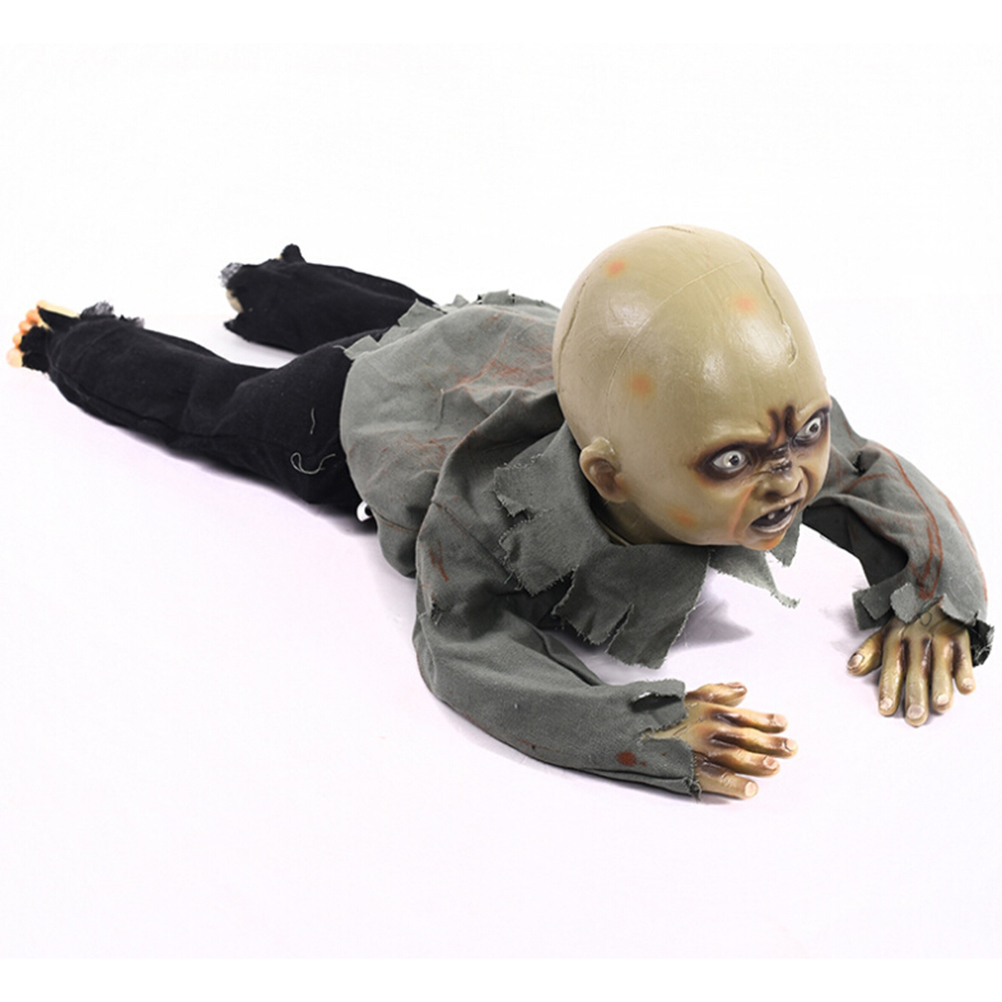 Halloween Crawling Zombie Creeping Zombie Props Horror Bloody Haunted House Yard Scary Decorations With Battery Operated