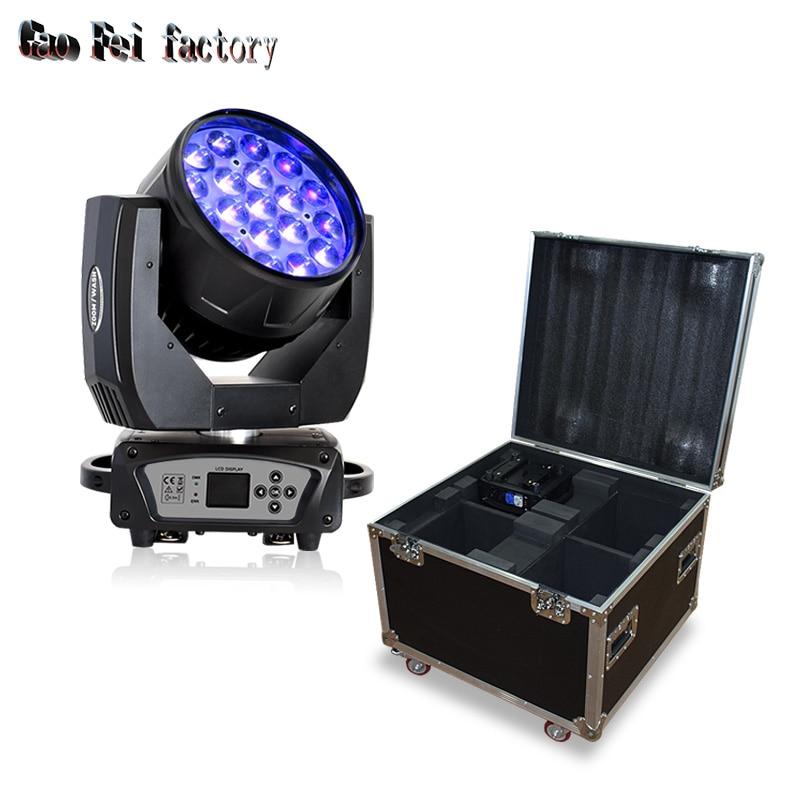 Dmx свет движущаяся голова луч led zoom wash and beam 19x15w профессиональный свет с доступностью футляров для полетов