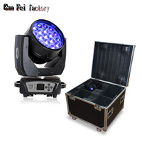 dmx light moving head beam led zoom wash and beam 19x15w professional light with availability of the flight cases