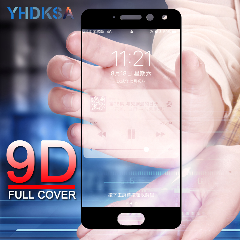 9D Full Cover Tempered Glass On The For Meizu M6 M5 M3 Note M6S M6T M5S M5C M3S Pro 6 7 Plus Screen Protector Protective Film
