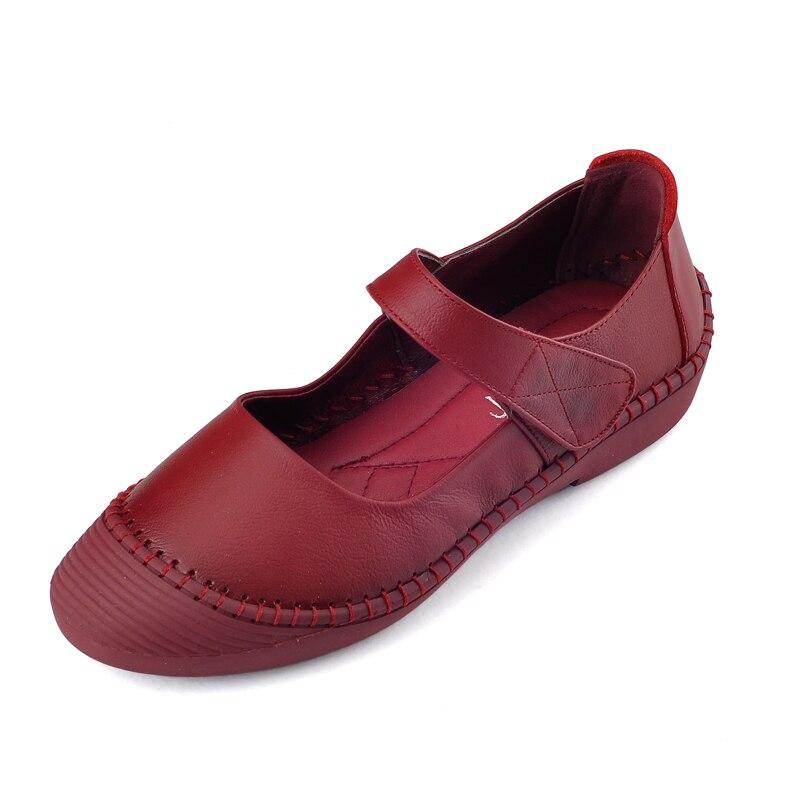 41 vino Negro Rushiman Tinto Suave Antideslizante Mujeres 35 Cómodos Negro Zapatos chocolate Las Suela De Tamaño Cuero Planas Individuales Mocasines 41ZTa4gr