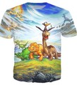 The Land Before Time Gang T shirt Littlefoot Cera Duckie Petrie Spike Chomper Cartoon tees Women Men Fashion tshirt  Tops
