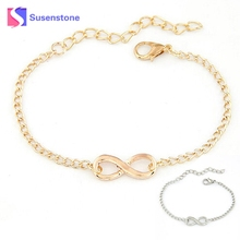 1 – 20 Pcs New Women Men Handmade Gift Charm 8 Shape Jewelry Infinity Bracelet bracelets & bangles Fabulous Gold Silver 2017