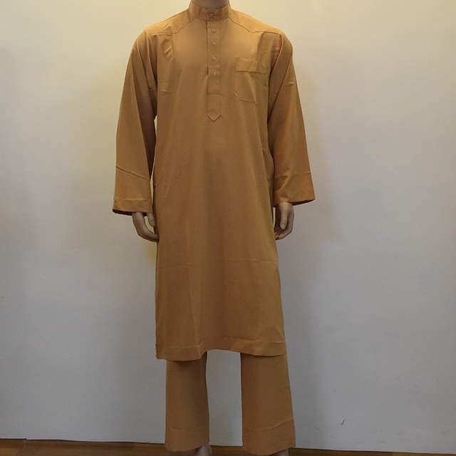 f54412c931 US $38.75 15% OFF Man Islamic Clothing Plus Size XXXL Saudi Arabia Men  Muslim Thobe with Pants White/Yellow/Gray Abaya Muslim Men Clothes-in  Islamic ...