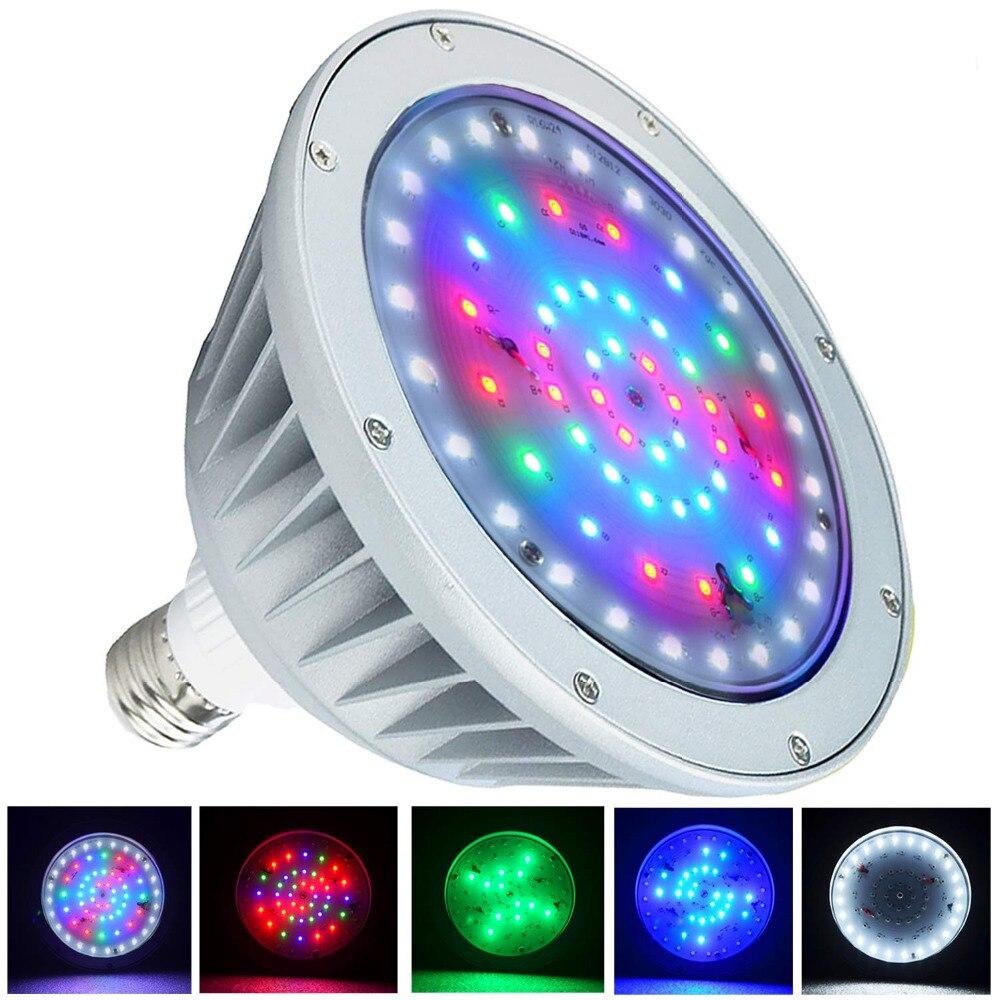 Pack de 2 LED lumière de piscine, 12 V 40 W, changement de couleur blanc rvb, IP65 sous la lumière de l'eau, remplacement pour Pentair et Hayward luminaire - 2