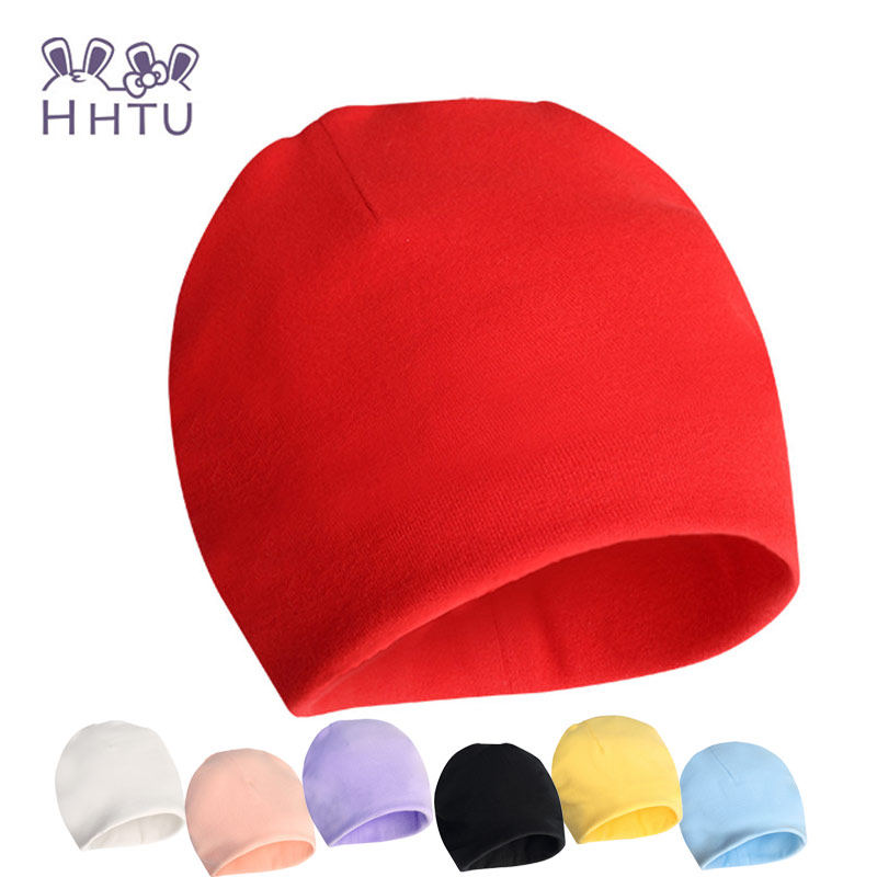 HHTU חורף סתיו הסרוגה בייבי כובע הנערה ילד כובע כותנה צעיף Beanie תינוקות סרוגות פעוטות ילדים מותג תינוקות אביזרים
