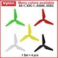Syma x5c, X5C-1, X5, X5SW, X5SW-1, X5SC peças 4 pçs/set Reforçada Lâminas Hélices rc Helicóptero Quadrocopter Drone peças de reposição