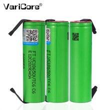 Varicore vtc6 3.7v 3000mah 18650 li-ion bateria 30a descarga para us18650vtc6 ferramentas e-cigarro baterias + folhas de níquel diy