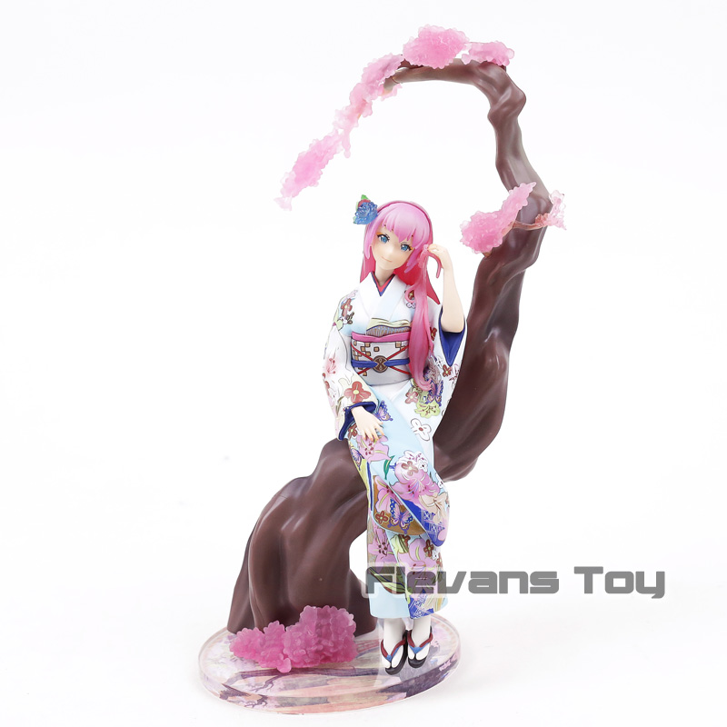 Hatsune Miku Megurine Luka Kimono Ver. 1/8 Scale Painted Figure Collectible Model Toy ownsun innovative super cob fog light angel eye bumper cover for skoda fabia scout